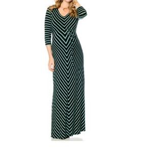 Motherhood Maternity Chevron Maxi Dress